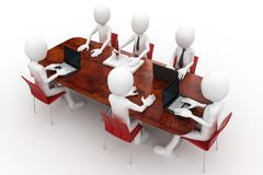 3d man team meeting Royalty Free Stock Photo