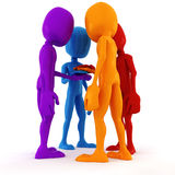 3d man team meeting Royalty Free Stock Photography