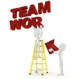 3d man team work, on white background Royalty Free Stock Image