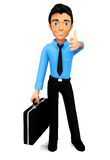 3D man with thumbs up Royalty Free Stock Photos