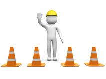 3d man and traffic coins Royalty Free Stock Photos