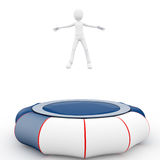 3d man with trampoline Royalty Free Stock Photo