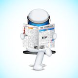 3d Man in vector. Illustration of 3d man in fully scalable vector reading newspaper Stock Image