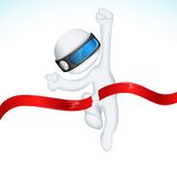 3d Man in Vector in Finishing Line Stock Images
