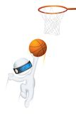 3d Man in Vector playing Basketball Stock Photography