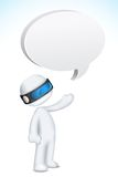 3d Man in Vector with Speech Bubble. Illustration of 3d man in vector fully scalable with speech bubble Stock Image