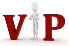 3d man VIP isolated on white Royalty Free Stock Images