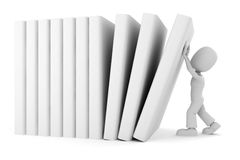 3d man vs the books Royalty Free Stock Photos