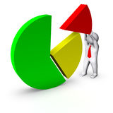 3d Man With Business Chart Stock Image