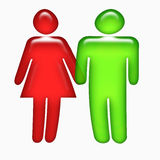 3D man and woman figures Royalty Free Stock Photo