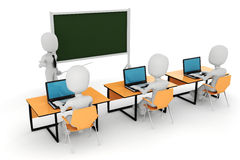 3d Mann - Klassenzimmer Lizenzfreie Stockfotos