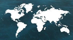3d map. Of the world and the sea Royalty Free Stock Image