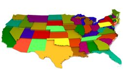 3d map. Of EEUU with the states Royalty Free Stock Photos