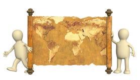 3d map antyczne kukły Zdjęcie Royalty Free