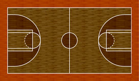 3D Map Basketball. Hardwood basketball court for 3D vector illustration
