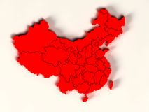 3d map of china Royalty Free Stock Photo