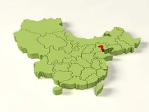 3d map of china Royalty Free Stock Image