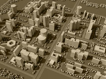 3d map of city Stock Photos