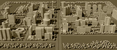 3d map of city Royalty Free Stock Photos