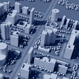 3d map of city Stock Image