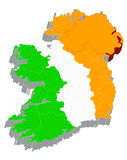 3d map with flag of Ireland royalty free illustration
