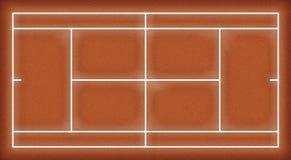 3D Map Tennis. Tennis court for 3D modelling Stock Photos