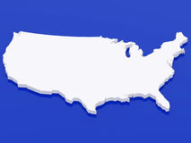 3d map USA Royalty Free Stock Photos
