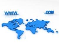 3d mapa Zdjęcie Stock