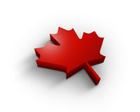 3d maple leaf. Beautiful red 3d maple leaf Stock Photography