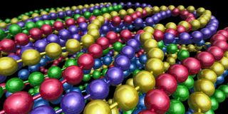 3D Mardi Gras Beads Royalty Free Stock Images
