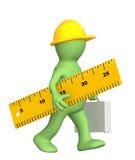 3d marioneta - constructor con la regla stock de ilustración