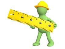 3d marioneta - constructor con la regla ilustración del vector