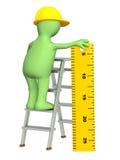 3d marioneta - constructor con la regla libre illustration