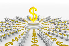 3d mark of dollar Royalty Free Stock Photo