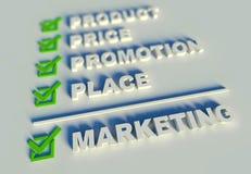 3d marketing mengelingsconcept met sleutelwoorden Royalty-vrije Stock Foto
