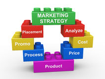 3d marketing strategy building blocks Stock Images