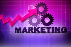 3d Marketing Text Royalty Free Stock Images
