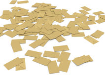 3d mass envelopes Royalty Free Stock Image