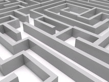 3D maze Stock Photography