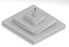 3d maze. Represents the road to success. Up through the maze Royalty Free Stock Images