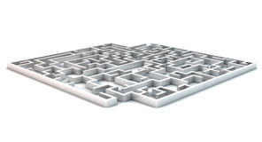 3D maze. On white background Stock Image