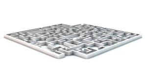 3D maze Stock Image
