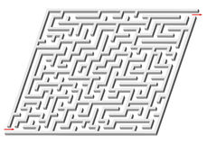 3d maze Stock Photo