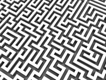 3d maze Royalty Free Stock Photos