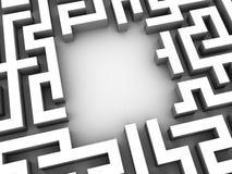 3d maze Stock Photos