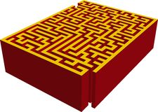 3D maze. Vector illustration of Entrance of the 3D maze Royalty Free Stock Photo