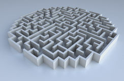 3D maze. Cg illustration of an abstract maze Stock Images