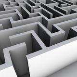 3D Maze Royalty Free Stock Photography