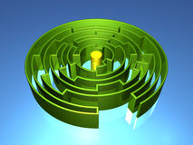 3D Maze. Three Dimensional Maze in Perspective Royalty Free Stock Photo