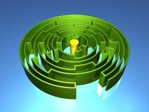 3D Maze Royalty Free Stock Photo